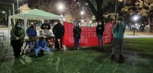 Olla popular de las juventudes socialistas junto a los Ex Combatientes