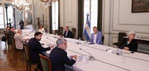 Carmona se reunió por primera vez con el Consejo Nacional Malvinas