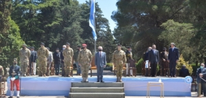 Ceremonia de restitución de la Bandera de Guerra del Regimiento de Infantería Mecanizado 12