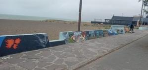 """Malvinas: un mural pintado desde el dolor por quienes no volvieron y la familia que """"perdió un amor"""""""