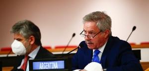 """Felipe Solá denunció en la ONU una militarización """"injustificada"""" en las Islas Malvinas"""