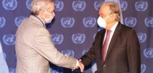 Felipe Solá se reunió con el secretario general de la ONU para pedirle que interceda ante Reino Unido por Malvinas