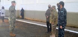 El Jefe del Comando Sur de la Marina de Estados Unidos visitó el Área Naval Austral