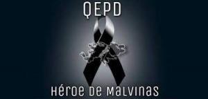 Murió el VGM Luis Mario, quien se había escapado de un campo de detención inglés en Malvinas