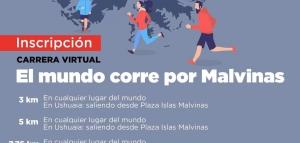 """Carrera virtual """"El mundo corre por Malvinas"""""""
