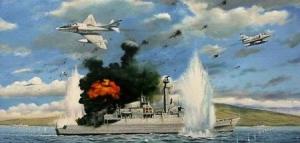 "Hundimiento del HMS ""Ardent"""